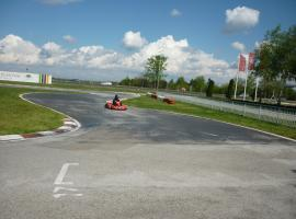 Outdoor go karting track