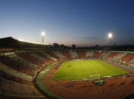Famous Red Star football stadium in Belgrade