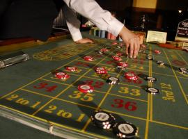 Playing blackjack in casino
