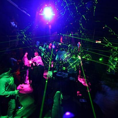 Heavy partying in one of Belgrade night clubs