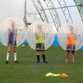 The best man prepared a bubble football prank for the groom